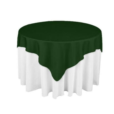 Hunter Green Overlay Tablecloth 60