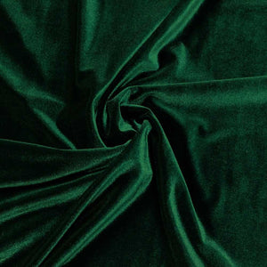 Hunter Green Velvet Stretch Fabric
