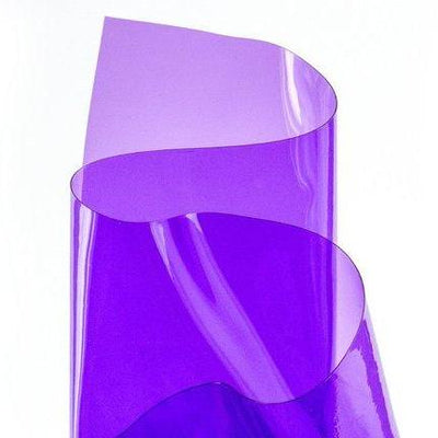 Purple 12 Gauge Tinted Plastic Vinyl Fabric