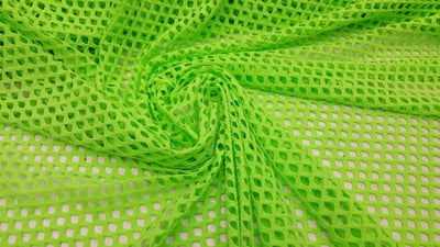 Lime Mini Fishnet with Nylon Spandex Fabric