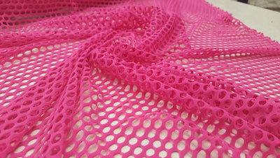 Pink Mini Fishnet with Nylon Spandex Fabric