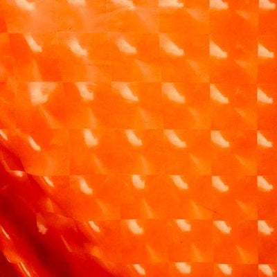 3D Orange Optical Tiles 4 Way Stretch Spandex Fabric