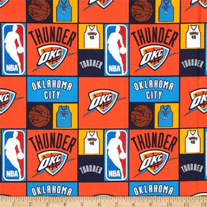 NBA Sports Broadcloth Oklahoma City Thunder 100% Cotton Fabric