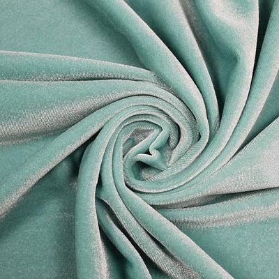 Aqua Velvet Stretch Fabric