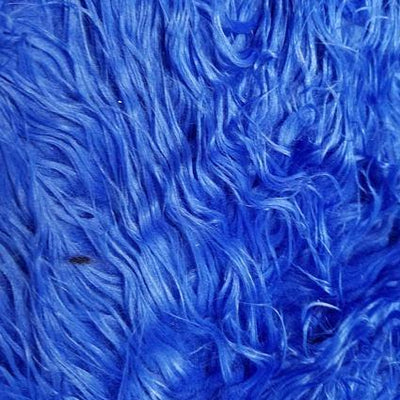Royal Blue Faux Fake Mongolian Animal Fur Fabric Long Pile