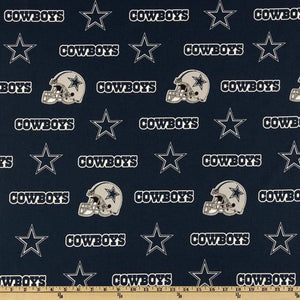 NFL Dallas Cowboys 100% Cotton Print Fabric