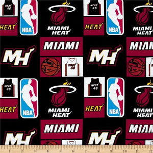 Miami Heat NBA 100% Cotton Fabric