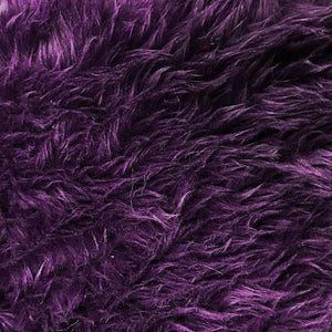 Eggplant Faux Fake Fur Solid Shaggy Long Pile Fabric