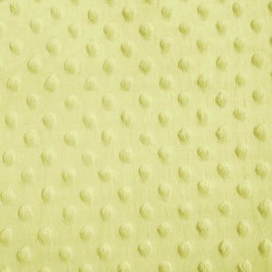 Banana Minky Dimple Dot Fabric