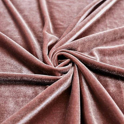 Mauve Velvet Stretch Fabric