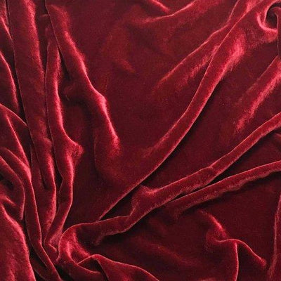 Cranberry Silk Velvet Fabric