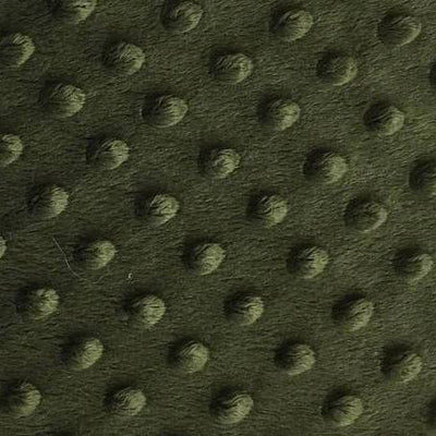 Dusty Olive Minky Dimple Dot Fabric