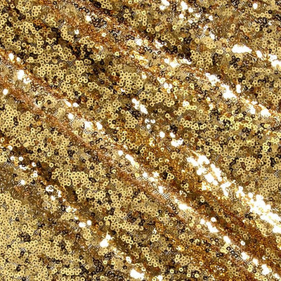 Gold Mini Glitz Sequin Mesh Fabric
