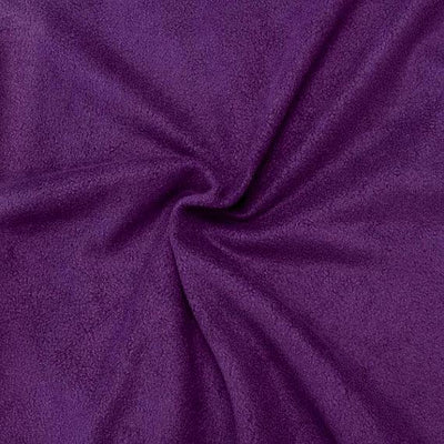 Violet Anti Pill Solid Fleece Fabric / 50 Yards Roll