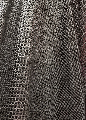 Black Shiny Mini Fishnet with Nylon Spandex Fabric