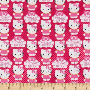 Hello Kitty Cloud Pink 100% Cotton Fabric
