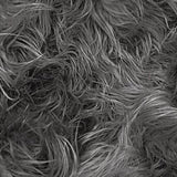 Charcoal Faux Fake Mongolian Animal Fur Fabric Long Pile