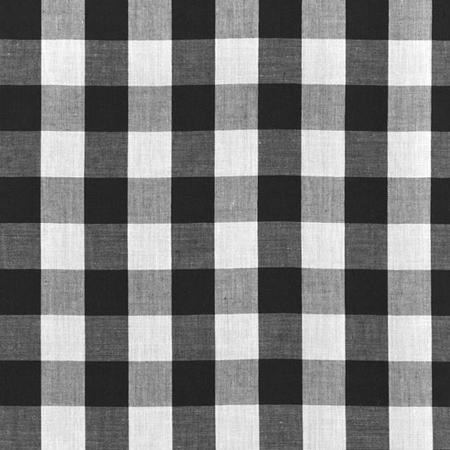 "Black Checkered Gingham 1"" Poly Cotton Fabric"