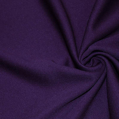Purple Solid Stretch Scuba Double Knit Fabric / 50 Yards Roll