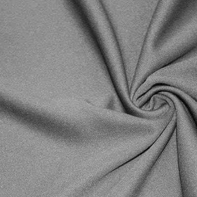 Gray Solid Stretch Scuba Double Knit Fabric / 50 Yards Roll