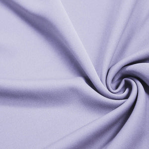 Lilac Solid Stretch Scuba Double Knit Fabric