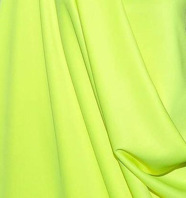 Neon Yellow Super Techno Neoprene Scuba Knit 4-way Stretch Fabric / 50 Yards Roll