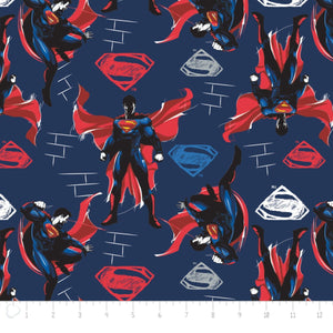 Superman Blue 100% Cotton Fabric
