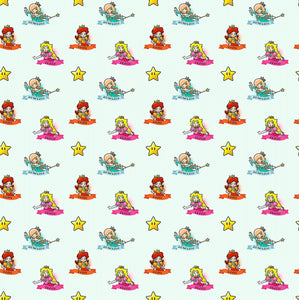 Nintendo Mario Daisy 100% Cotton Fabric