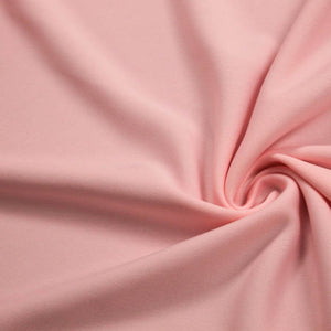 Pink Solid Stretch Scuba Double Knit Fabric