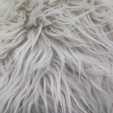Bleach Faux Fake Mongolian Animal Fur Fabric Long Pile