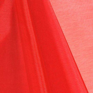 Red Mirror Crystal Organza Fabric
