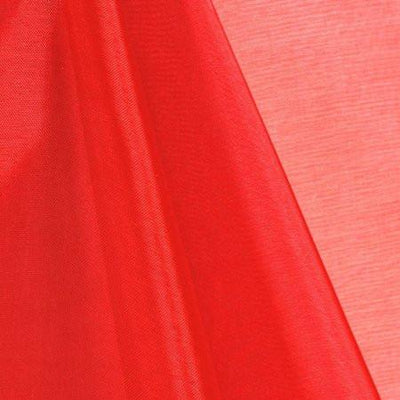 Red Mirror Crystal Organza Fabric / 100 Yards Roll