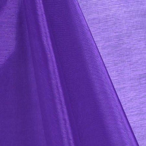 Purple Mirror Organza Fabric