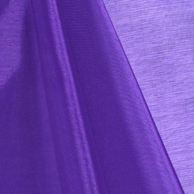 Purple Mirror Crystal Organza Fabric / 100 Yards Roll