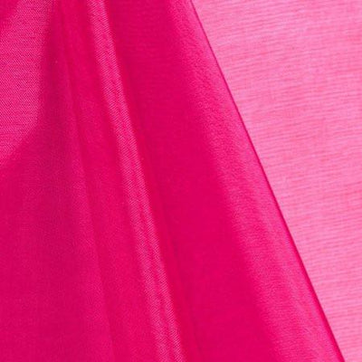 Fuchsia Mirror Crystal Organza Fabric / 100 Yards Roll