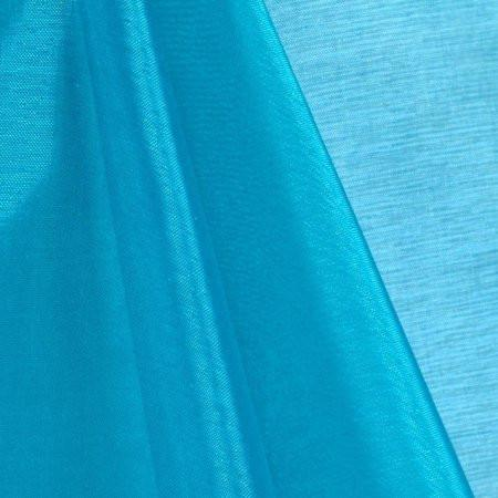 Turquoise Mirror Crystal Organza Fabric