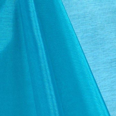 Turquoise Mirror Crystal Organza Fabric / 100 Yards Roll