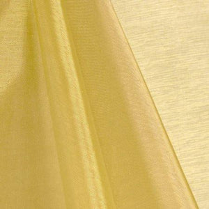 Gold Mirror Crystal Organza Fabric