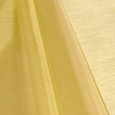 Gold Mirror Crystal Organza Fabric / 100 Yards Roll