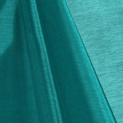 Teal Mirror Crystal Organza Fabric / 100 Yards Roll
