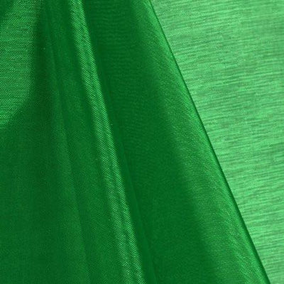 Green Mirror Crystal Organza Fabric / 100 Yards Roll