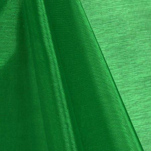 Green Mirror Organza Fabric