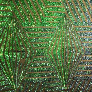 Green Purple Bombshell Stretch Sequin Fabric