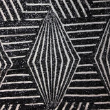 Black Bombshell Stretch Sequin Fabric