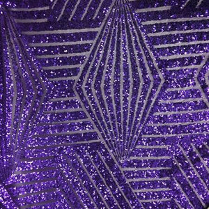 Purple Bombshell Stretch Sequin Fabric