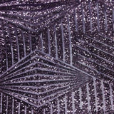Plum Bombshell Stretch Sequin Fabric