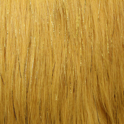 Golden Glitter Shaggy Faux Fur Fabric