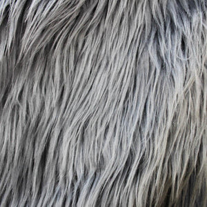 Faux Fur Smoky Grey Fabric
