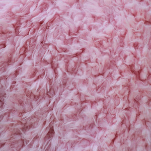 Curly Pink Faux Fur Fabric
