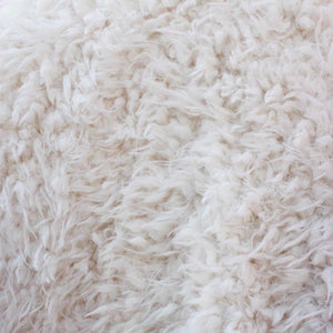 Curly Ivory Faux Fur Fabric